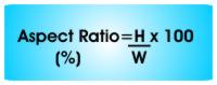 Aspect Ratio Equation