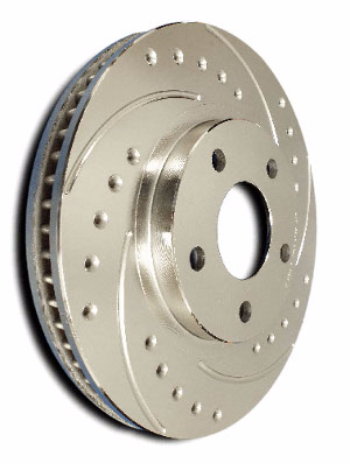 Cross Drilled Slotted Disc Rotors